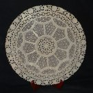 """17"""" Large Rare Marble Plate Filigree Hand Carved Art Handmade Home Decor Gifts"""