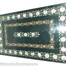 Size 4'X8' Marble Dining Center Table Top Marquetry Inlay Stone Home Decor H935