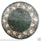 Size 2'X2' Marble Side Coffee Table Top Mother of Pearl Mosaic Floral Decor H913