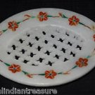 Marble Soap Dish Hakik Holder Bathroom Pietra Dura Filigree Home Decor Arts