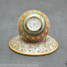 "2.5"" Marble Clock Handmade Hand painted Jaipur Art Home Decor Beautiful Gifts"