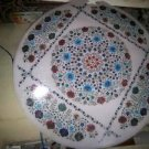 "24"" Marble Coffee Table Top Dining Pietra Dura Mosaic Floral Home Decor New"