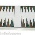 "12""x18"" Backgammon Board Game marble inlay coffee table Unique Home Decorative"