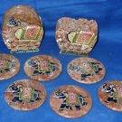 Marble 2 Tea Coaster Elephant Hand carved Hand Painted Handmade Gifts Decor