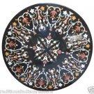 """42"""" Black Marble Dining table Coffee Top Handmade Pietra Dura Home Garden Décor"""