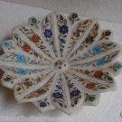 "10"" Marble Pietra Dura Mosaic Fruits Bowls Bowl Handmade Home Decor Arts Gifts"