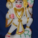 "6"" Indian Carving Hindu God Hanuman Color Marble Stone Statue Figurine Decor Art"
