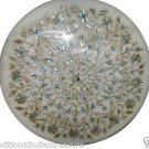 Size 2'X2' Marble Side Coffee Table Top Rare Inlay Turquoise Gem Home Decor H918