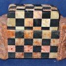 Marble Tea Coaster Set Chess Design Elephant Handmade Home Decor Gifts Art