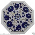 1' Marble Coffee Table Top Rose Flower Inlaid Floral Pietra Dura Mosaic Handmade