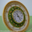 "6"" Marble Clock Handmade Hand painted Office Decor Home Decorative Best Gifts"