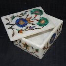 Pietra Dura Marble Jewelry Box Trinket Lapis Lazuli handmade Cyber Monday Gifts