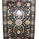 3'x2' Black Marble Dining Table Top Handmade Outdoor Decor Mosaic Arts