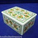 "4""x3""x3"" White Oval Marble Jewelry Box Trinket Hakik Handmade Pietra Dura Arts"