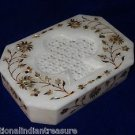 "6""x4""x1.5"" Rectangular Marble Jewelry Box Paua Shell Pietra Dura Mosaicy Gifts"