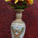 "9"" Decorative Marble Flower Vase Pot Beautiful Showcase Home Decor Design Gifts"