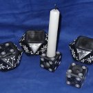 3 Black Marble Candle Stand Cum Incense Stand Handmade Home Decor Gifts New