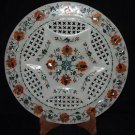 "12"" Marble Hakik Pietra Dura Gifts Plate Decor Hand made Home Decor Art"