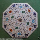 """24"""" Marble Coffee Pietra Dura Side Table Top Marquetry Home Decor Art Handmade"""