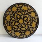 "36"" Black Marble Coffee Dining Table Top Inlay Fine Work  Inlaid  Handmade Art"