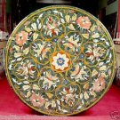 """36"""" Green Marble Table Top Handmade Dining Table Top Marquetry Home Decor Gifts"""