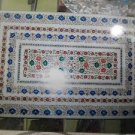 3'x2' Marble Inlaid Mosaic coffee Table Top Dining Rare Pietra Dura Floral Decor