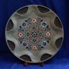 "15"" Marble Antique Plate Pietra Dura Marquetry Rare Paua Shell Fine Decor Gifts"