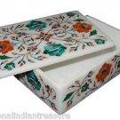 "6""x4""x2"" Marble Jewelry Box Handmade Malachite Hakik Pietra Dura Home Decor Arts"