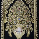 2'x3' Kashmir Zardozi Jewel Carpet Rug Handmade Traditiona​l Decor Wall Hanging