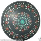Size 2'X2' Marble Coffee Table Top Rare Carnelian Mosaic Floral Home Deco H942