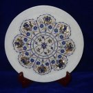 """10"""" Marble Plate Inlaid Pietra Dura Paua Shell Decorative Home Decor Gifts"""