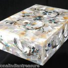 "7""x5""x2"" Marble Jewellery Box Semi Precious Sheep Random Work Collectible Gifts"