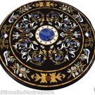 5' Marble Dining Table Top Rare Gem Inlaid Floral Pietra Dura Art Handmade Decor