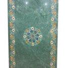 3'x6' Green Marble Semi Precious Dining Coffee Table Top Handmade Large Art New