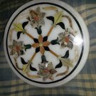 """24"""" Marble Coffee Table Top Dining Marquetry Inlaid Mosaic Floral Decor New"""