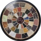 """24"""" Marble Mosaic Round inlaid Fine Dining Coffee Table Top Home Decor Gifts"""