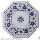 """Size 18""""x18"""" Marble Side Coffee Table Top Inlay Lapis Mosaic Art Home Deco H953A"""