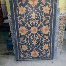 3'x2' Black Marble Table Top Pietra Dura Rare Centre Table Top Home Decor