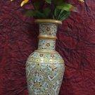 "12"" Decorative Handmade Marble Flower Vase Pot Beautiful Showcase Home Decor Art"