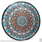Size 3'X3' Marble Dining Table Top Rare Turquoise Gem Floral Home Decor H911A