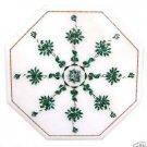 1' Marble Side Table Top Coffee Malachite Pietra Dura Art Handmade Home Decor