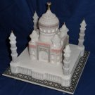 "9""x9"" White Marble Taj Mahal Collectible Replica Handicraft Home Decor Gifts"