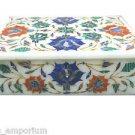 "6""x4""x2"" Marble Decorative Handmade Jewelry Box Trinket Semi Precious Home Gifts"