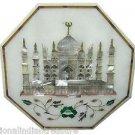 "12"" Marble Cofffee Table Top Inlaid TAJ MAHAL Pietra Dura Handmade Home Decor"