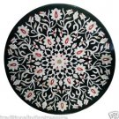 """Size 42""""X42"""" Marble Dining Table Top Mosaic Inlay Floral Ornate Home Decor H904B"""