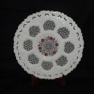"""12"""" Marble Plate Very Fine Inlay Work Pietra Dura Gorgeous Plate Home Decor Art"""