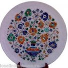 """15"""" Decorative Marble Plate Pietra Dura High Quality Inlay Work Decor Home Gifts"""