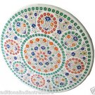 """Size 42""""x42"""" Marble End Coffee Table Top Multi Inlay Mosaic Art Home Deco H957B"""