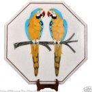"24"" Marble Coffee center Table Top Handicraft Marquetry Hakik Parrot Art Decor"