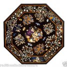 3' Marble Dining Table Top Multi Inlay Pietradure Mosaic Art Handmade Decor Gift